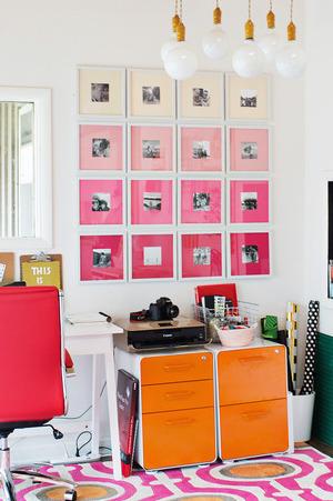 gallery-wall-idea-ombre-wall