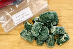 how to freeze parsley cubes